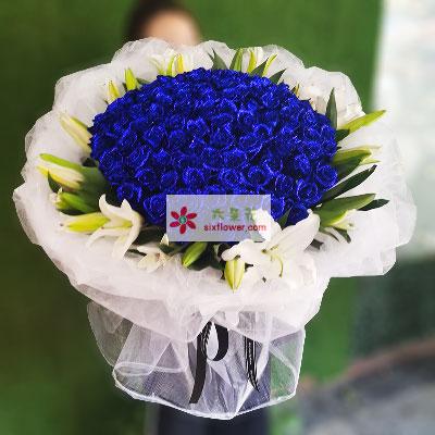 花艺美花店99朵红玫瑰,世界因你而美丽