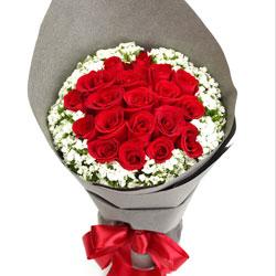 19朵红玫瑰,想与你共度生命每一天