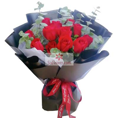 12朵红玫瑰,美好人生增城美奇