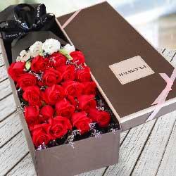 21朵红玫瑰,礼盒装,共度人生