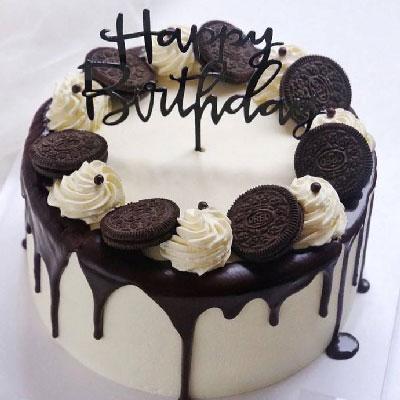 小玉鲜花批发8寸鲜花巧克力蛋糕,平安一天天