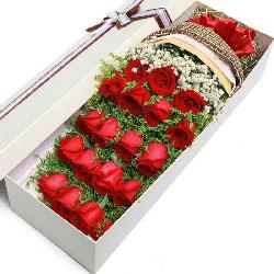 19朵红玫瑰礼盒,愿你我一生连理枝