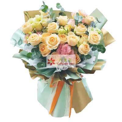 19朵香槟玫瑰,太爱你胶南情之源