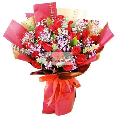 21朵红玫瑰,我们的爱不怕风雨燕郊花之缘花店