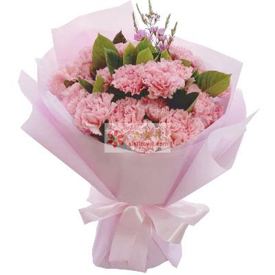 胶州花之缘鲜花20朵粉色康乃馨,世界因为有你而更加美好