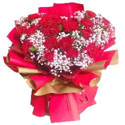 19朵红色康乃馨,感谢您的陪伴