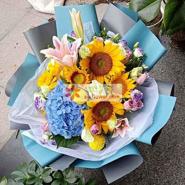 送成都高新区天府一街港华汉铂酒店的花