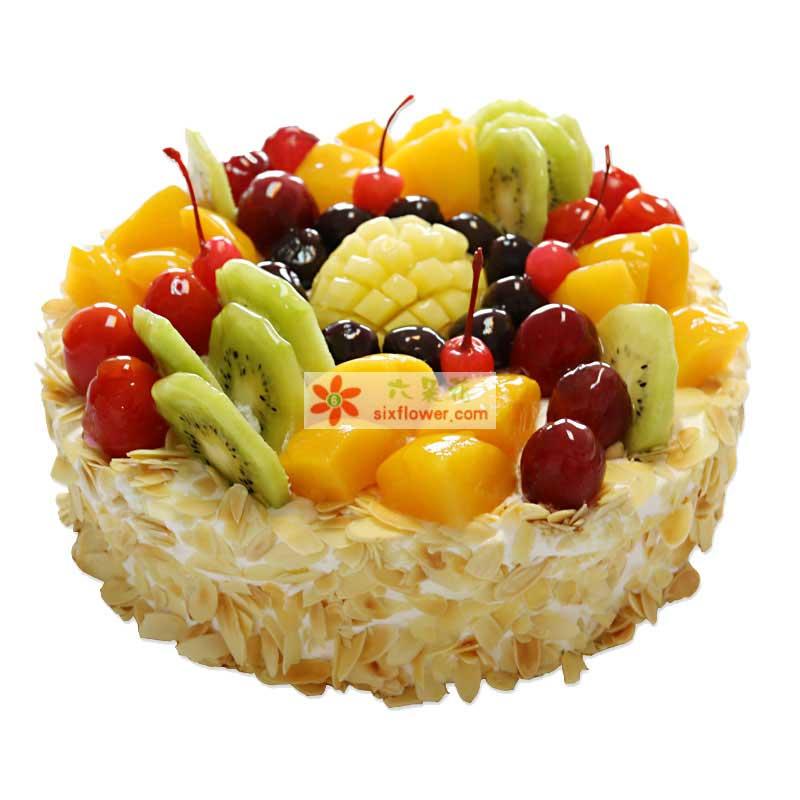 8寸水果蛋糕(水果为时令水果)